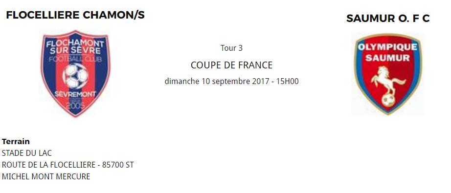 3 me tour coupe de france fcms ph saumur ofc dh flochamont sur s vre football - Tirage coupe de france 3eme tour ...